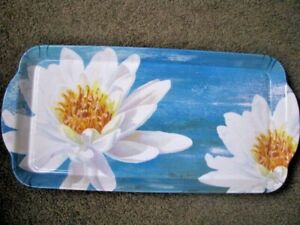 BNEW LIDDY WATER LILIES WATER LILY PLATTER TRAY MELAMINE