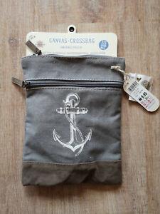 Goldline Crossbag Handbag Shoulder Bag Küstenkind Grey, Anchor