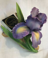 Andrea By Sadek Porcelain Purple Mere Iris Flower #7032