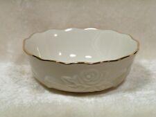 Lenox Rose Blossom Bowl Gold Trim / Rosebud Collection / Lenox China Handcrafted