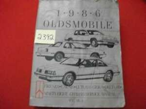 1986 FACTORY ISSUED OLDSMOBILE CHASSIS SERVICE MANUAL SEE MODELS VOLUME 1 GC.