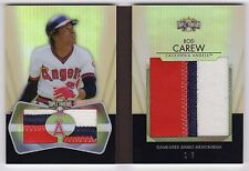 2012 Triple Threads Rod Carew Jumbo Relic Patch Booklet #1/3 Angels