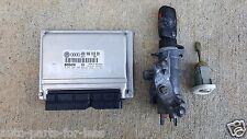 2000 VW PASSAT ECM ENGINE CONTROL MODULE UNIT IGNITION SWITCH & KEY DOOR LOCK