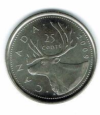 2009 Logo Canadian Brilliant Uncirculated Caribou Twenty Five Cent coin!