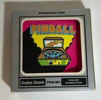 Vintage Pinball Radio Shack TRS-80 Video Game Cartridge w/ Box & Book
