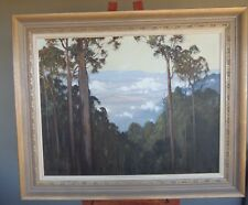 "Australian Artist .. Leonard Long original oil on board ""Yarra Valley"""