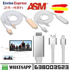 Cable Adaptador HDMI TV HDTV y Cable USB 1080P para iPhone  5 5c 6 5S 6S 6+