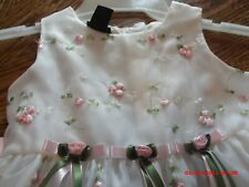 Girls Holiday Natural Pageant Or Flower Girl Formal Dress Size 4-5 Free Ship