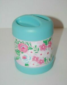 Pottery Barn Kids Mackenzie Aqua Pink Bouquets Hot Cold Container 10 Oz.
