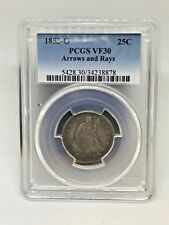 1853-O Seated Liberty Quarter Dollar, PCGS VF 30 Arrow and Rays