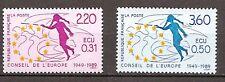 Frankrijk - 1989 - Mi. Dienst 45-46 (Meeloper) - Postfris - CF116