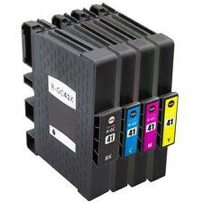 Pack Ahorro 4 Cartuchos de Gel XXL compatibles para Ricoh GC-41 BK, C, M, Y