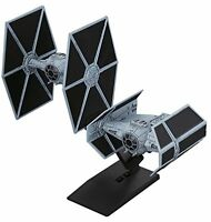 Vehicle Model 007 Star Wars Tie Advanced x1 & Tie Fighter Set Plastic Model