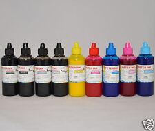 9X100ML Non-oem PIGMENT Ink Refill For Epson R2400 printer CIS CISS cartridge