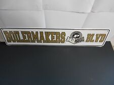 "Purdue Boilermakers 5"" x 24"" Metal Street Sign.  Very nice  J10-2"