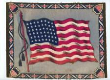 "c 1910 Felt Antique Cigarette Tobacco Blanket 48 Star American Flag 10.5"" x 8.5"""