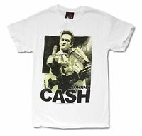 Johnny Cash Middle Finger Image Mens White T Shirt New Official Merch