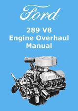 FORD 289 V8 ENGINE OVERHAUL MANUAL
