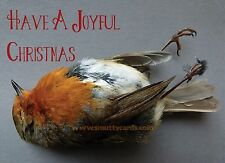 Ex - Robin - Macabre Gothic Victorian Style Christmas Card ~ Potty Mouth