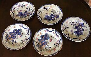"""5 1820's Spode Tobacco Leaf Side Plates. 6.25"""". 2061."""