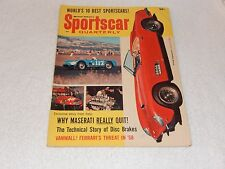 MOTOR TRENDS SPORTSCAR QUARTERLY Spring Edition 1958 Ferrari Vanwall Benz Fangio