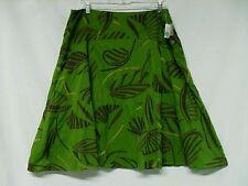 Kenar Skirt Size 14 Green Tropical Print NWT