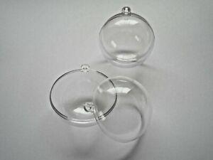 Acrylkugel teilbar, Kunststoffkugel, Plastikkugel mit Öse 4 bis 20 cm