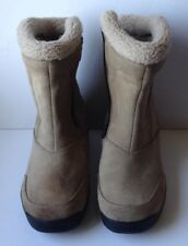 Sorel Water Fall Waterproof Insulated Lined Snow Boots Tan Suede Women's 7 M