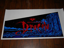 BRAM STOKER'S DRACULA PINBALL MACHINE 5 PC. CABINET ARTWORK/DECALS!*SUPER RARE!*