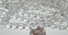 75 Rare Vintage Czech Glass 8mm Clear Pointy Cone Beads