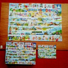 Gibsons CREAM TEAS & QUEUING 1000 Piece Jigsaw Puzzle - Complete.