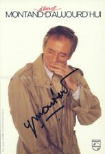 YVES MONTAND - PHOTOGRAPH SIGNED