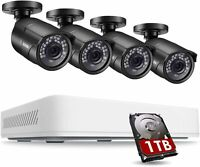 ZOSI 5MP 4CH CCTV HDMI DVR Extreme Home Outdoor Security Camera System 1TB HDD