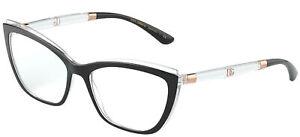 Dolce & Gabbana DOUBLE LINE DG 5054 Black Crystal 54/17/145 Damen Brillen