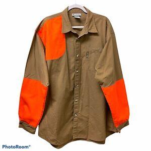 Columbia SportsWear Size XXL Orange Button Down Shooting Hunting Shirt #5