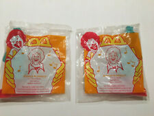 LOT OF 2~1996 McDonalds Happy Meal Toy~Ronald McDonald PARTY FAVOR NOISE MAKERS
