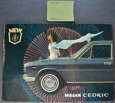 1965 Nissan Cedric 16pg Catalog Sales Brochure Datsun Excellent Original 65