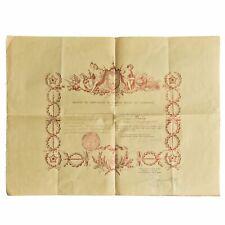 Brevet de chevalier de l'ordre royal du Cambodge