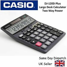 Casio Dj120d Plus Large Desktop Calculator -12 DIGIT Display 300 Step Recheck