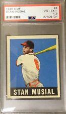 1948 Leaf Stan Musial #4 (R) HOF  VG-EX+ PSA 4.5