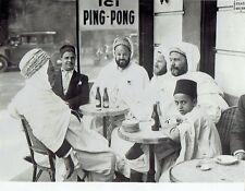 1933 Vintage Photo Arab Muslims from Morocco sit at a cafe bar in Paris France