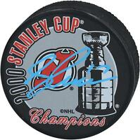 Petr Sykora New Jersey Devils Signed 2000 Stanley Cup Champions Logo Hockey Puck
