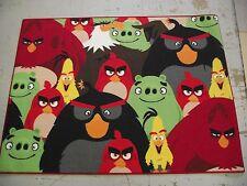 Angry Birds Niños Alfombra Dormitorio Alfombra 95X133CM Antideslizante Grande En Colores Brillantes