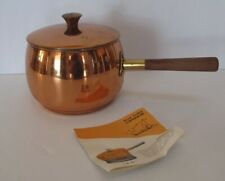 Vintage Copper Ware Handcrafted Chafing Dish Without Stand Made in Portugal