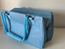 ESCADA Canvas Blue Handbag Shopper Purse