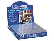10 Pages x ULTRA PRO Page Sleeves - 9 Card Pocket Silver Series Sleeve