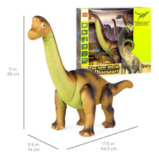 Kids Remote Control Stomping and Roaring Dinosaur Brachiosaurus Toy 17.5in