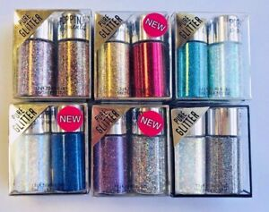 Lot of 6 ~ Hard Candy Poppin Pigments Eye Shadow Duo  GLITTER    SEALED