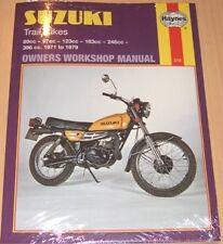 Haynes Manual SUZUKI TC TS TC90 TS90 TC100 TS100 TC125 TS125 TC185 TS185 TS250