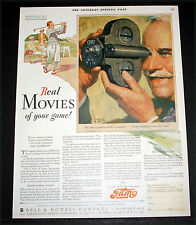 1927 OLD MAGAZINE PRINT AD, B&H, FILMO CAMERAS, REAL MOVIES OF YOUR GOLF GAME!